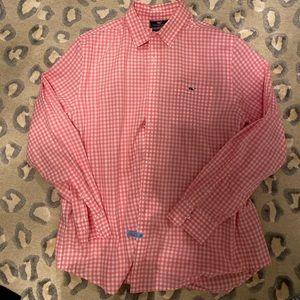 Vineyard vines men's pink white shirt. Size large.